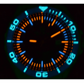Daynight T-100 –Swiss Automatic 63 Tritium Tubes  -Blue Dial Lume