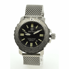 DAYNIGHT T100 OPS PRO MILITARY TRITIUM FLAT TUBES -48MM Stainless On Mesh Bracelet