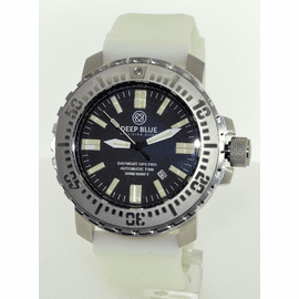 DAYNIGHT T100 OPS PRO MILITARY TRITIUM FLAT TUBES -48MM Stainless On White luminous Silicon