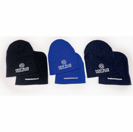 DEEP BLUE ACRYLIC BEANIE WINTER CAP