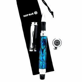 Deep Blue Bluewater Abalone Pen