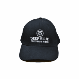 Deep Blue Hat Black
