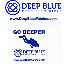Deep Blue Stickers- Waterproof