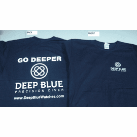 Deep Blue T Shirts 100 % Cotton - Navy Color -Glows in the Dark