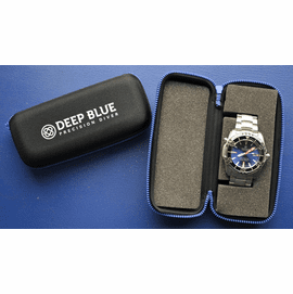 """Deep Blue"" Zip Carry case"
