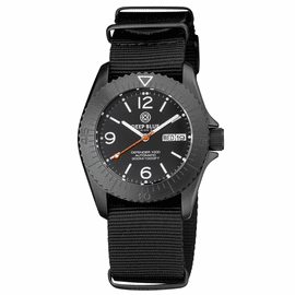 DEFENDER 1000 40MM AUTOMATIC PVD CASE BLACK  DIAL STRAP