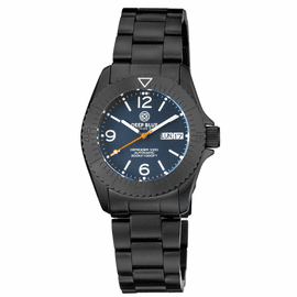 DEFENDER 1000 40MM AUTOMATIC PVD CASE DARK BLUE MATTE DIAL BRACELET