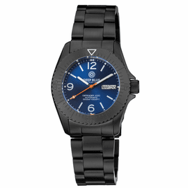DEFENDER 1000 40MM AUTOMATIC PVD CASE DARK BLUE SUNRAY DIAL BRACELET