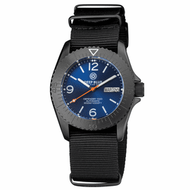 DEFENDER 1000 40MM AUTOMATIC PVD CASE DARK BLUE SUNRAY DIAL STRAP