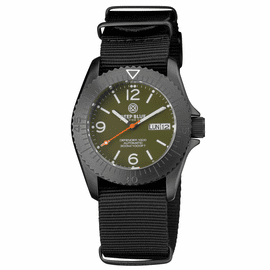 DEFENDER 1000 40MM AUTOMATIC PVD CASE GREEN  DIAL STRAP