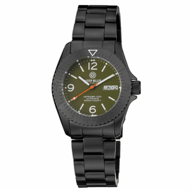 DEFENDER 1000 40MM AUTOMATIC PVD CASE GREEN DIAL BRACELET
