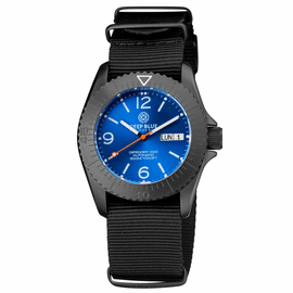 DEFENDER 1000 40MM AUTOMATIC PVD CASE LIGHT  BLUE SUNRAY DIAL STRAP
