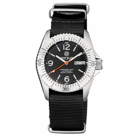DEFENDER 1000 40MM AUTOMATIC SS CASE BLACK DIAL STRAP
