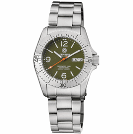 DEFENDER 1000 40MM AUTOMATIC SS CASE GREEN DIAL BRACELET