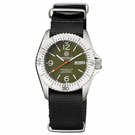 DEFENDER 1000 40MM AUTOMATIC SS CASE GREEN DIAL STRAP