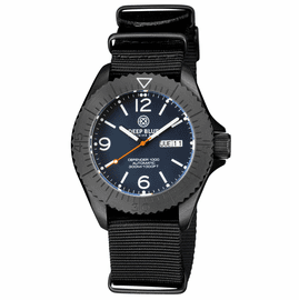 DEFENDER 1000 44MM AUTOMATIC PVD CASE BLUE MATTE DIAL STRAP