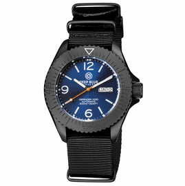 DEFENDER 1000 44MM AUTOMATIC PVD CASE DARK BLUE SUNRAY  DIAL STRAP