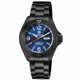 DEFENDER 1000 44MM AUTOMATIC PVD CASE DARK BLUE SUNRAY DIAL BRACELET