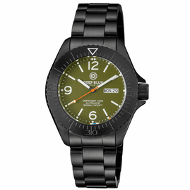 DEFENDER 1000 44MM AUTOMATIC PVD CASE GREEN DIAL BRACELET