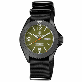 DEFENDER 1000 44MM AUTOMATIC PVD CASE GREEN DIAL STRAP