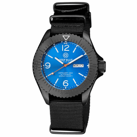 DEFENDER 1000 44MM AUTOMATIC PVD CASE LIGHT BLUE SUNRAY DIAL STRAP