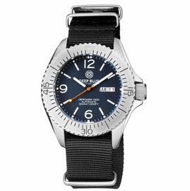 DEFENDER 1000 44MM AUTOMATIC SS CASE BLUE MATTE DIAL STRAP