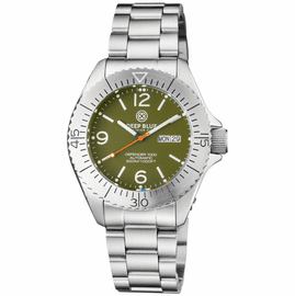 DEFENDER 1000 44MM AUTOMATIC SS CASE GREEN DIAL BRACELET