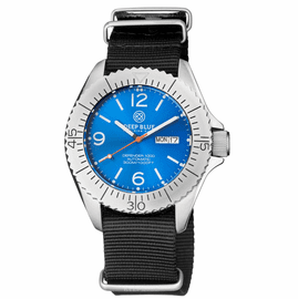 DEFENDER 1000 44MM AUTOMATIC SS CASE LIGHT BLUE SUNRAY DIAL STRAP