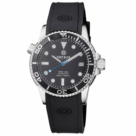 DIVER 1000 AUTOMATIC DIVER BLACK BEZEL -BLACK DIAL-BLUE SECOND HAND