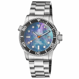DIVER 1000 AUTOMATIC DIVER BLACK BEZEL �BLACK MOTHER OF PEARL DIAL BRACELET