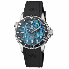 DIVER 1000 AUTOMATIC DIVER BLACK BEZEL – BLUE  ABALONE SHELL DIAL
