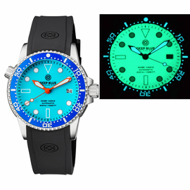 DIVER 1000 AUTOMATIC DIVER BLUE BEZEL � BLUE FULL LUMINOUS DIAL