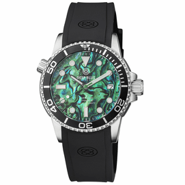 DIVER 1000 AUTOMATIC DIVER BLACK BEZEL � GREEN ABALONE SHELL DIAL