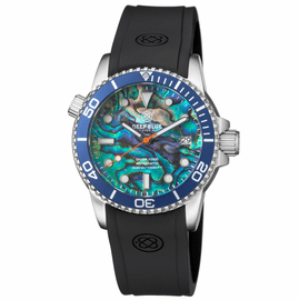 DIVER 1000 AUTOMATIC DIVER  BLUE BEZEL LARGE ABALONE SHELL  DIAL
