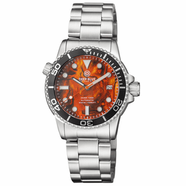 DIVER 1000 AUTOMATIC DIVER BLACK BEZEL � ORANGE ABALONE BRACELET