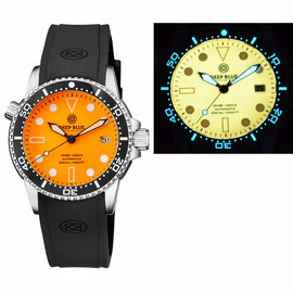 DIVER 1000 AUTOMATIC DIVER BLACK BEZEL � ORANGE FULL LUMINOUS DIAL