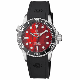 DIVER 1000 AUTOMATIC DIVER BLACK BEZEL -  RED ABALONE SHELL DIAL