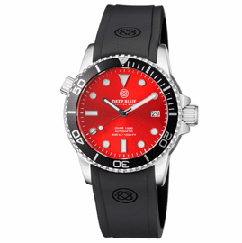 DIVER 1000 AUTOMATIC DIVER BLACK BEZEL –RED  SUNRAY  DIAL