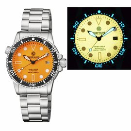 DIVER 1000 AUTOMATIC DIVER BLACK CERAMIC BEZEL � ORANGE FULL LUMINOUS DIAL BRACELET