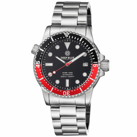 DIVER 1000 AUTOMATIC DIVER BLACK/RED BEZEL �BLACK DIAL BRACELET