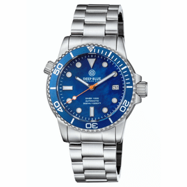 DIVER 1000 AUTOMATIC DIVER BLUE BEZEL �BLUE MOTHER OF PEARL DIAL BRACELET