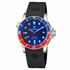 DIVER 1000 AUTOMATIC DIVER BLUE/RED 15 30 45  BEZEL BLUE  DIAL
