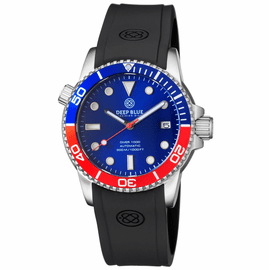 DIVER 1000 AUTOMATIC DIVER BLUE/RED 20 30 40 50 BEZEL BLUE  DIAL