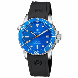DIVER 1000 AUTOMATIC DIVER LIGHT BLUE BEZEL �BLUE  DIAL