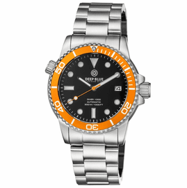 DIVER 1000 AUTOMATIC DIVER ORANGE BEZEL �BLACK DIAL BRACELET