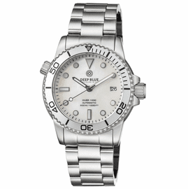 DIVER 1000 AUTOMATIC DIVER SILVER BEZEL �WHITE MOTHER OF PEARL DIAL BRACELET