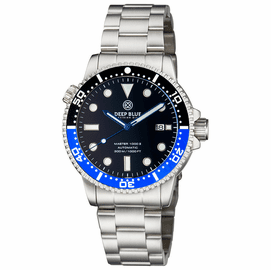 DIVER 1000 II 40MM AUTOMATIC DIVER BLACK/BLUE CERAMIC BEZEL -BLACK SUNRAY DIAL BLUE HANDS