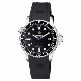 DIVER 1000 II 40MM AUTOMATIC DIVER BLACK CERAMIC BEZEL � BLACK GLOSSY DIAL BLUE SECOND HAND