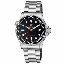 DIVER 1000 II 40MM AUTOMATIC DIVER BLACK CERAMIC BEZEL � BLACK GLOSSY DIAL ORANGE SECOND HAND