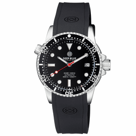 DIVER 1000 II 40MM AUTOMATIC DIVER BLACK CERAMIC BEZEL � BLACK GLOSSY DIAL RED SECOND HAND